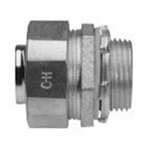 Midwest LTB75 Liquidator™ Straight Insulated Liquidtight Conduit Connector; 3/4 Inch, Malleable Iron, Electro-Plated Zinc