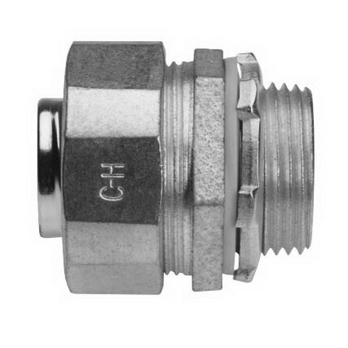 Midwest LTB125 Liquidator™ Straight Insulated Liquidtight Conduit Connector; 1-1/4 Inch, Malleable Iron, Electro-Plated Zinc