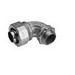 Midwest LTB12590 Liquidator™ Insulated 90 Degree Liquidtight Conduit Connector; 1-1/4 Inch, Malleable Iron, Electro-Plated Zinc