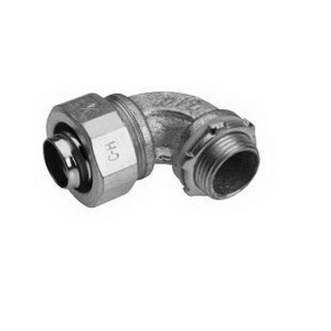 Midwest LTB20090 Liquidator™ Insulated 90 Degree Liquidtight Conduit Connector; 2 Inch, Malleable Iron, Electro-Plated Zinc