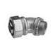 Midwest LT5045 Liquidator™ Non-Insulated 45 Degree Liquidtight Conduit Connector; 1/2 Inch, Malleable Iron, Electro-Plated Zinc