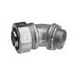 Midwest LT15045 Liquidator™ Non-Insulated 45 Degree Liquidtight Conduit Connector; 1-1/2 Inch, Malleable Iron, Electro-Plated Zinc