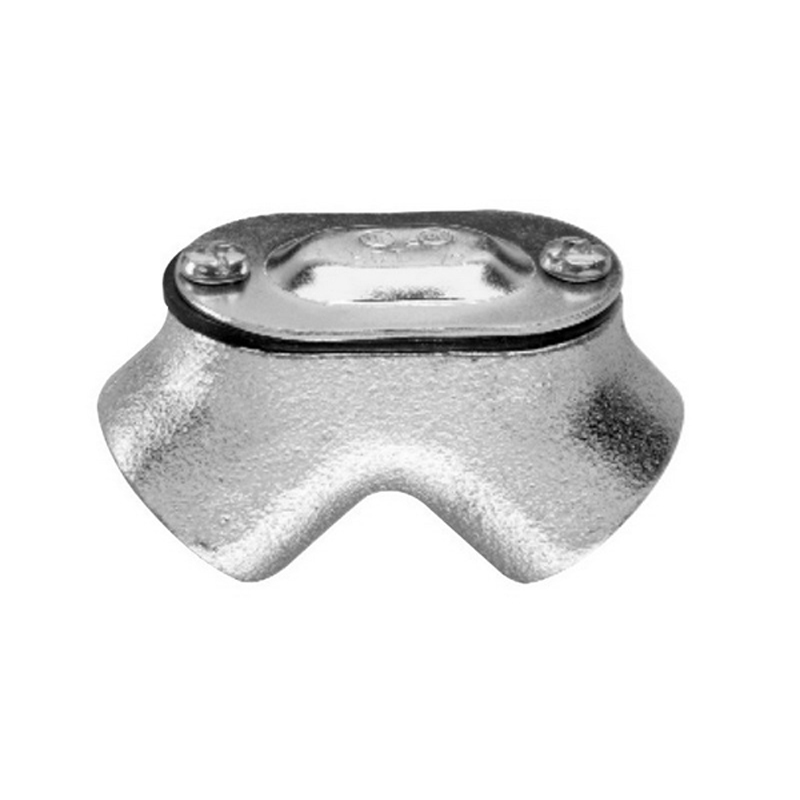 Midwest 825 Raintight Gasketed 90 Degree Pulling Elbow; 2 Inch, FNPT, Malleable Iron