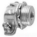 Midwest 711 Straight Non-Insulated Conduit Connector; 1-1/4 Inch, Malleable Iron, Zinc-Plated, Squeeze x MNPT