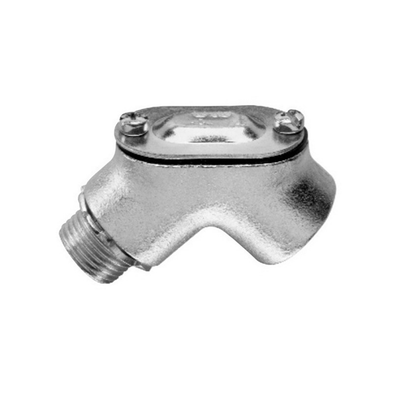 Midwest 812 Raintight Gasketed 90 Degree Pulling Elbow; 1 Inch, MNPT x FNPT, Malleable Iron