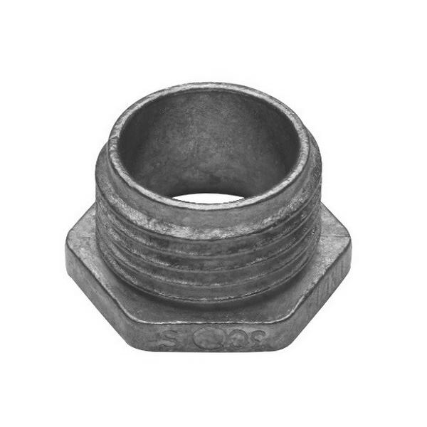Midwest 53D Conduit Bushed Nipple; 1-1/4 Inch, Threaded, Die-Cast Zinc