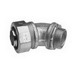 Midwest LT25045 Liquidator™ Non-Insulated 45 Degree Liquidtight Conduit Connector; 2-1/2 Inch, Malleable Iron, Electro-Plated Zinc