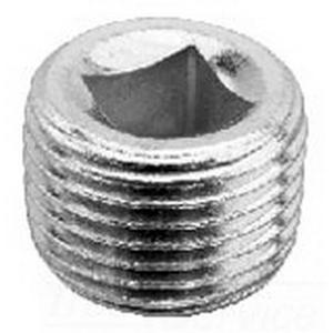 Midwest PLG1M Rigid Conduit Recessed Head Plug; 1/2 Inch, MNPT, Cast Iron