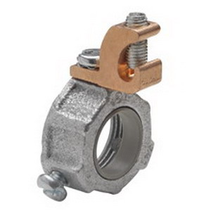 Midwest HGLS1 Insulated Grounding Bushing With Lug; 1/2 Inch, Set-Screw, Malleable Iron