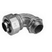 Midwest LT10090G Liquidator™ Non-Insulated 90 Degree Liquidtight Conduit Connector With Aluminum Grounding Lug; 1 Inch, Malleable Iron, Electro-Plated Zinc