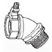 Midwest LT5045G Liquidator™ Non-Insulated 45 Degree Liquidtight Conduit Connector With Aluminum Grounding Lug; 1/2 Inch, Malleable Iron, Electro-Plated Zinc