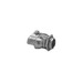 Midwest 2699 Non-Insulated Duplex Cable Connector; 3/8 Inch, Die-Cast Zinc, Screw x Snap-In