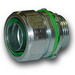 Midwest LTBK50 Straight Low Profile Insulated Liquidtight FMC Connector; 1/2 Inch, Steel, Electro-Plated Zinc, NPT
