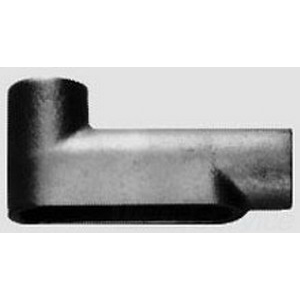 Midwest LB85-CGN Type LB Rigid Conduit Outlet Body With Cover and Gasket; 3 Inch, Die-Cast Copper-Free Aluminum