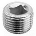 Midwest PLG10M Recessed Head Plug; 4 Inch, MNPT, Cast Iron