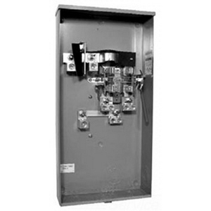 Milbank U3000-O-K3L-K2L-ALT Ringless Single Position Meter Socket; 600 Volt, 320 Amp Continuous, 1-Phase, 4-Jaw, Surface Mount