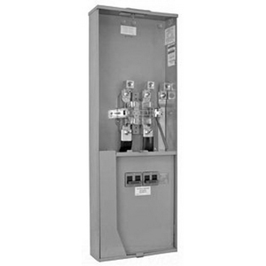 Milbank U5059-X-2/200-K3L Ringless 3-Wire Meter Socket; 120/240 Volt AC, 320 Amp, 1-Phase, 4-Jaw, Surface Mount