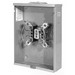 Milbank U7040-XL-TG Ringless Single Position Meter Socket; 600 Volt AC, 200 Amp Continuous, 1-Phase, 4-Jaw, Surface Mount