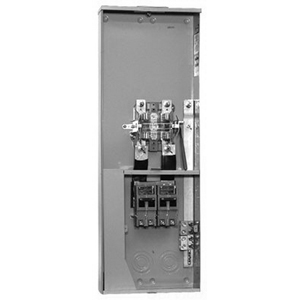 Milbank U5059-X-K3L Ringless 3-Wire Meter Socket; 120/240 Volt AC, 320 Amp Continuous, 1-Phase, 4-Jaw, Surface Mount