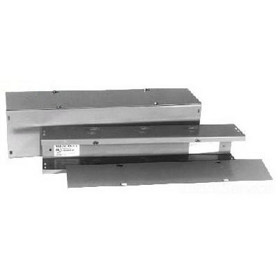 Milbank 44120-GSC1-NK Wireway; 120 Inch x 4 Inch x 4 Inch, G90 Gauge Steel, ANSI 61 Gray