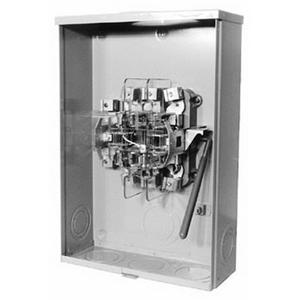Milbank U7422-RXL Ringless Single Position Meter Socket; 600 Volt AC, 200 Amp, 3-Phase, 7-Jaw, Surface Mount