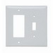 Pass & Seymour SPJ126-W Junior-Jumbo 2-Gang Combination Wallplate; Screw Mount, Thermoplastic, White