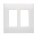 Pass & Seymour SW262-W Screwless 2-Gang Decorative Wallplate; Zinc-Plated Steel, White