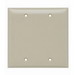 Pass & Seymour SP23-I 2-Gang Blank Wallplate; Box Mount, Thermoset Plastic, Ivory