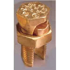 Penn-Union S-4 Split Bolt Connector; 8-4 AWG Solid, 600 Volt, Copper Alloy