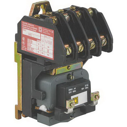 Schneider Electric / Square D 8903LO40V04 Type L Electrically Held Lighting Contactor 4-Pole  277 Volt AC Coil At 60 Hz  4 NO