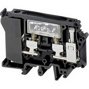 Schneider Electric / Square D NSYTRV42SF6LD Component Carrier Terminal Block; 12 - 30 Volt AC/DC, Screw Connection, Black With LED