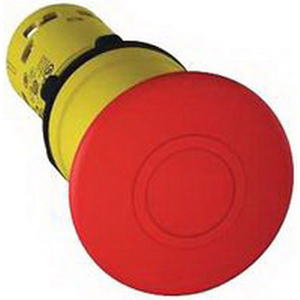 Schneider Electric / Square D XB7NT845 Harmony™ Watertight/Oiltight 2-Position Emergency Stop Pushbutton; 240/250 Volt AC/DC, 750 Milli-Amp, Trigger and Mechanically Latching, 1 NO/1 NC, Red