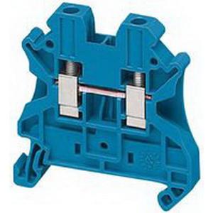 Schneider Electric / Square D NSYTRV42BL Passthrough Terminal Block; Screw Connection, Blue