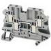 Schneider Electric / Square D NSYTRV44 4-Point Double Deck Terminal Block; 500 Volt, 39 Amp, Screw Connection, Gray