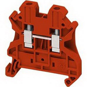 Schneider Electric / Square D NSYTRV42RD Passthrough Terminal Block Screw Connection  Red