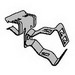 Steel City SSF-CC1/2-3/4-F1/2 Conduit Clip; 1/2 Inch - 3/4 Inch, Steel