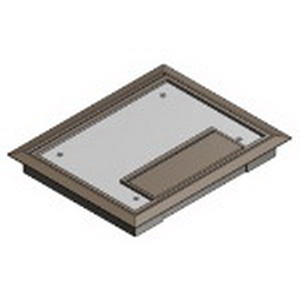 Steel City AFM6-CST-SW-BRN MopTite™ Floor Box Cover; Polycarbonate, Brown