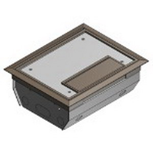 Steel City AFM-6-BRN 3 (Double)-Compartment Rectangular Raised Access Floor Module; 4 Inch Depth, Galvanized Steel, 225 Cubic-Inch, Brown