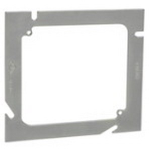 Steel City 82-52E-0 5 SQUARE® Flat Square Box Adapter; 4 Inch Width x 4 Inch Height, Steel