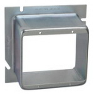 Steel City 82C-2G-2 2-Device Raised 2-Gang Square Ring; Steel, 26 Cubic-Inch