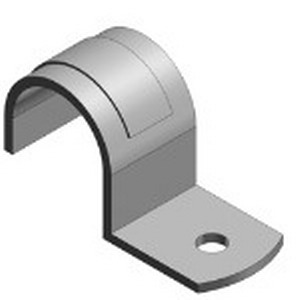 Steel City HS101-SS 1-Hole Pipe Strap; 1/2 Inch, Stainless Steel, Zinc-Plated