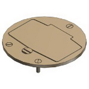 Steel City P60-GFCI MopTite™ GFCI Cover Plate; Brass, Brushed Brass