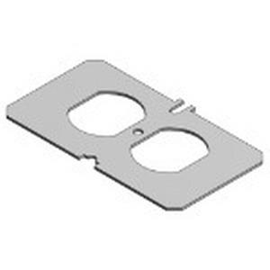 Steel City P-60-Q Duplex Receptacle Face Plate; Steel
