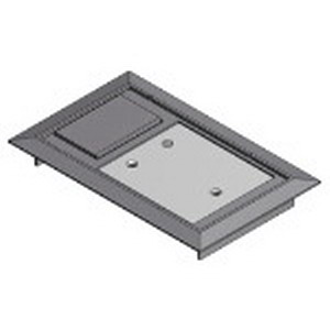Steel City 664-CST-SW-GRY MopTite™ Hinged Floor Box Cover; Polycarbonate, Gray