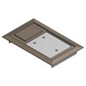 Steel City 664-CST-SW-BRN MopTite™ Hinged Floor Box Cover; Polycarbonate, Brown