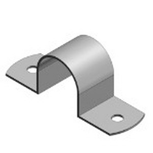 Steel City HS-910 2-Hole Conduit Pipe Strap; 4 Inch, 16 Gauge Steel, Zinc-Plated