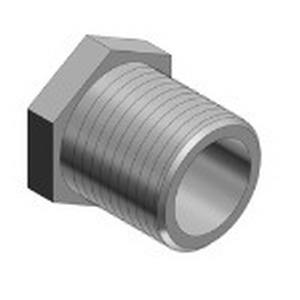Steel City HA-211 Hex Head Conduit Chase Nipple; 1/2 Inch, MNPT, Die-Cast Zinc
