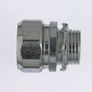 Steel City HC-408 Conduit Connector; 3 Inch, Threadless Compression, Malleable Iron