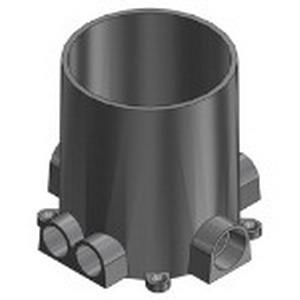 Steel City 68-P Round Floor Box; 6 Inch Depth, PVC, 100 Cubic-Inch