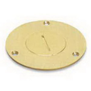 Steel City P-60-2 MopTite™ Cover Plate; Brass, Brushed Brass